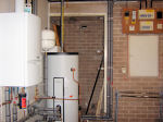 A boiler and hot water tank